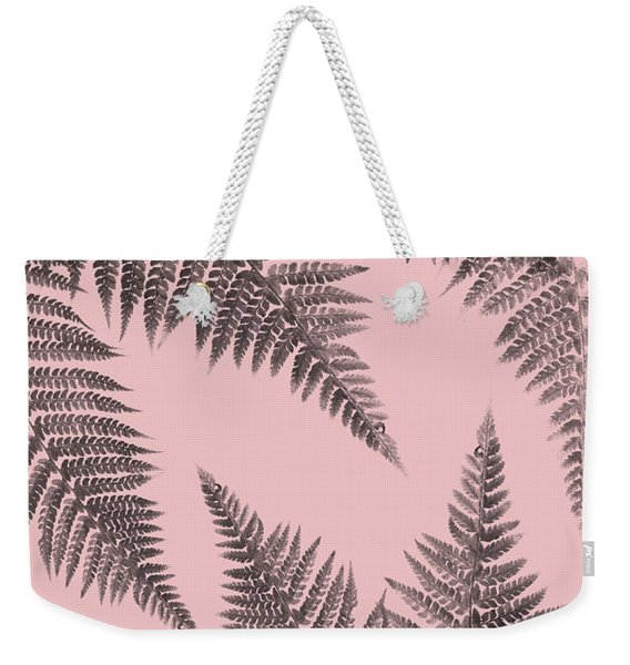Ferns On Blush Weekender Tote Bag