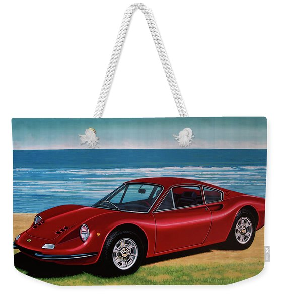 Ferrari Dino 246 Gt 1969 Painting Weekender Tote Bag