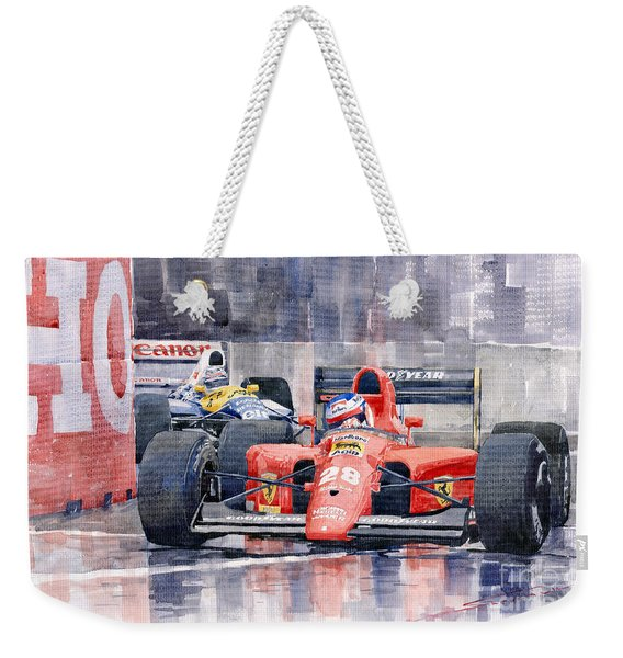 1991 Ferrari F1 Jean Alesi Phoenix Us Gp Arizona 1991 Weekender Tote Bag