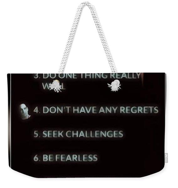 Ferrells Rules Of Success Weekender Tote Bag