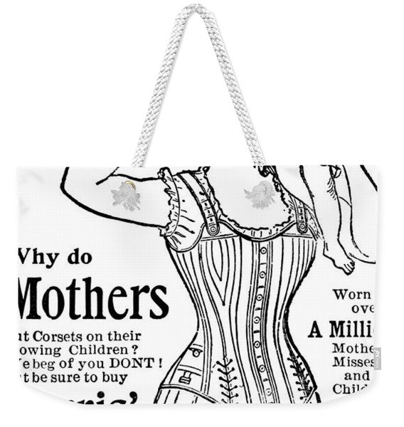 Ferris Good Sense Corset Waists - Marshall Field And Co - Chicago, New York Weekender Tote Bag
