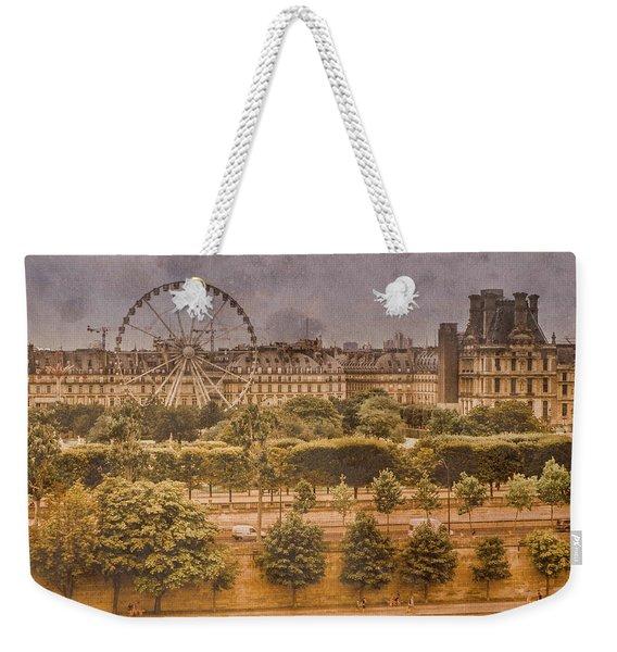 Paris, France - Ferris Wheel Weekender Tote Bag