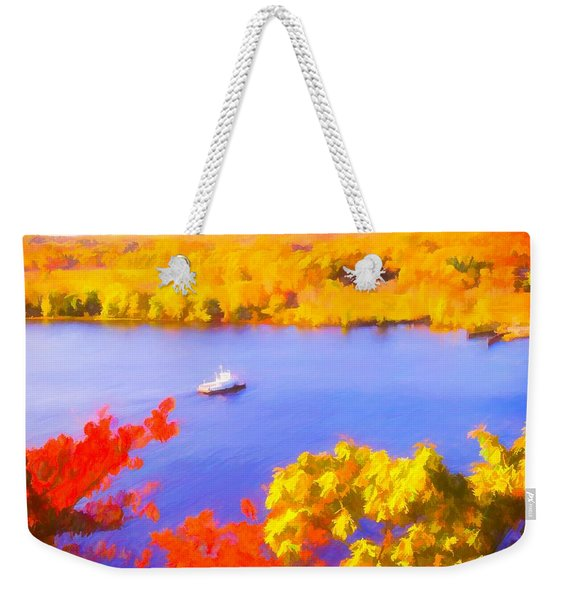 Ferry Crossing Connecticut River. Weekender Tote Bag