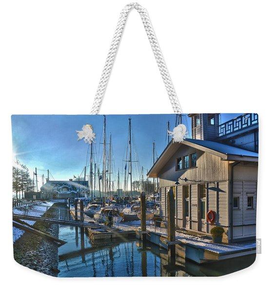 Ferry Harbour In Winter Weekender Tote Bag