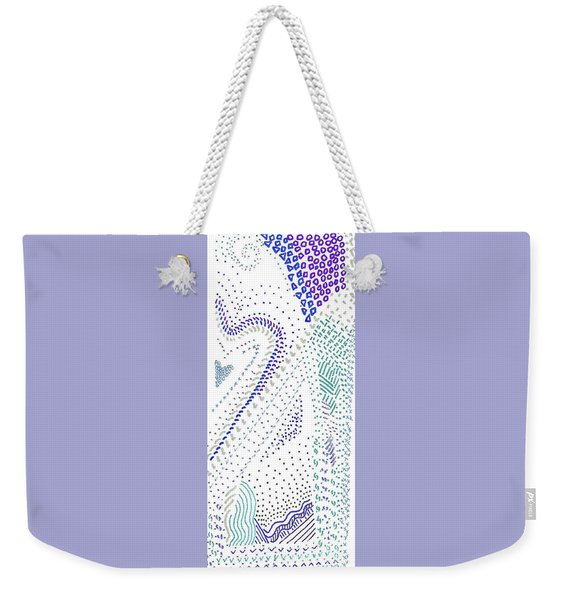 Festival In Blue And Silver Weekender Tote Bag