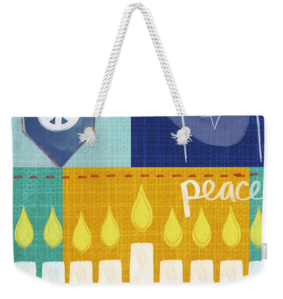 Festival Of Lights- Hanukkah Art By Linda Woods Weekender Tote Bag