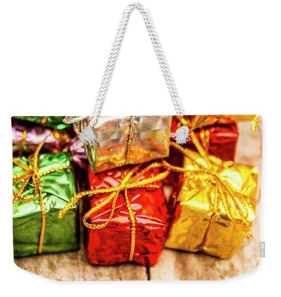 Festive Greeting Gifts Weekender Tote Bag