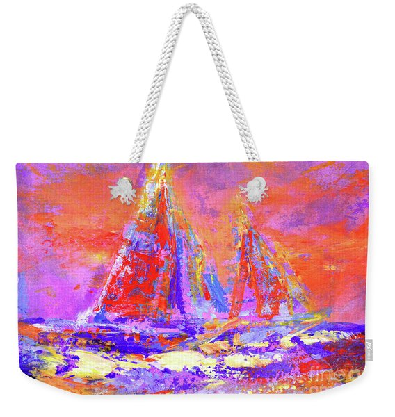Festive Sailboats 11-28-16 Weekender Tote Bag