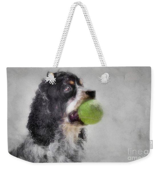 Fetching Cocker Spaniel  Weekender Tote Bag