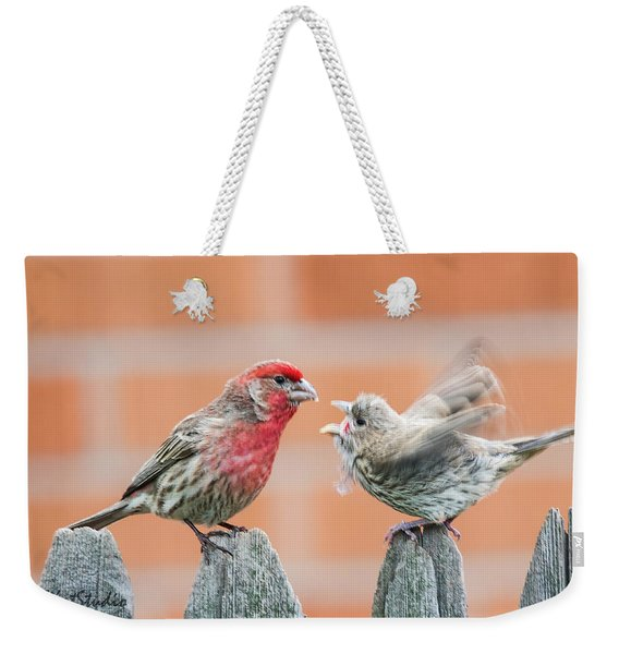 Feuding Finches Weekender Tote Bag
