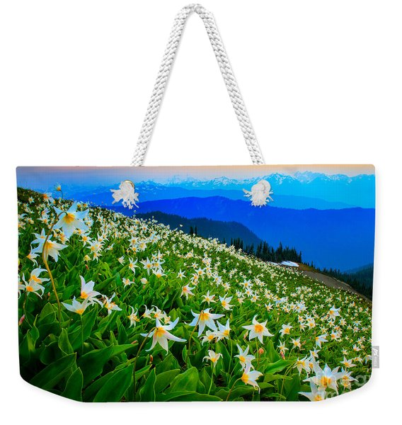 Field Of Avalanche Lilies Weekender Tote Bag