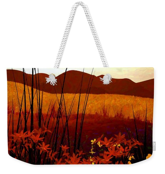 Field Of Flowers Weekender Tote Bag
