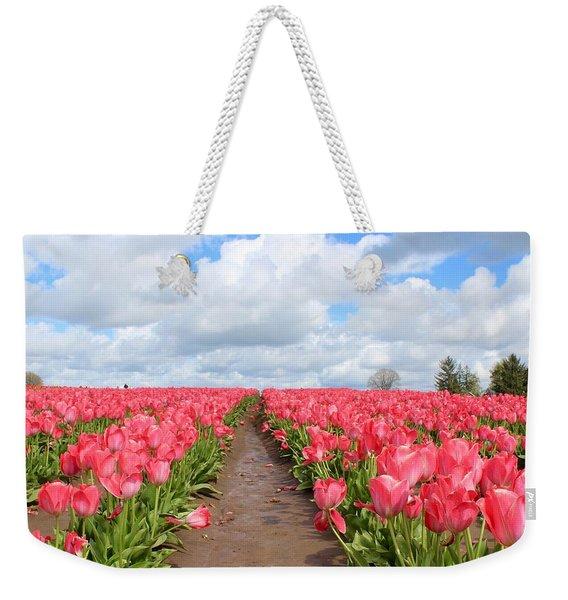 Field Of Pink Weekender Tote Bag