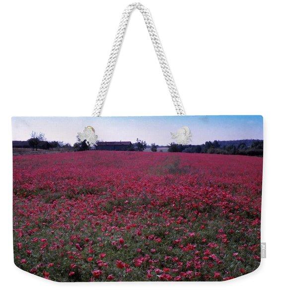 Field Of Poppies, France Weekender Tote Bag