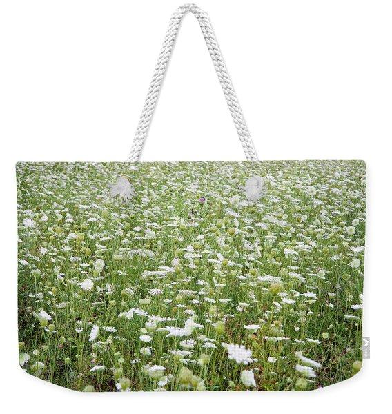 Field Of Queen Annes Lace Weekender Tote Bag