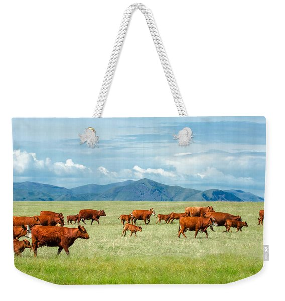 Field Of Reds Weekender Tote Bag
