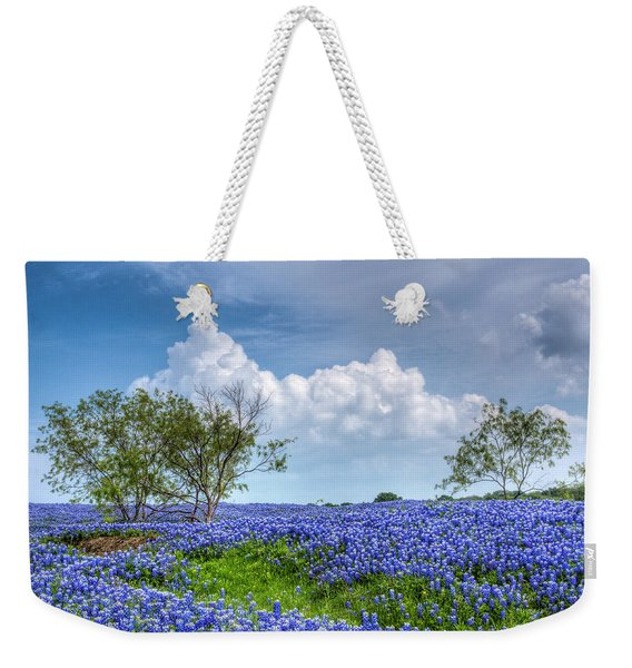 Field Of Texas Bluebonnets Weekender Tote Bag