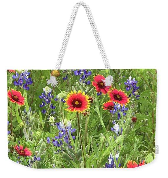 Field Of Texas Wildflowers Weekender Tote Bag