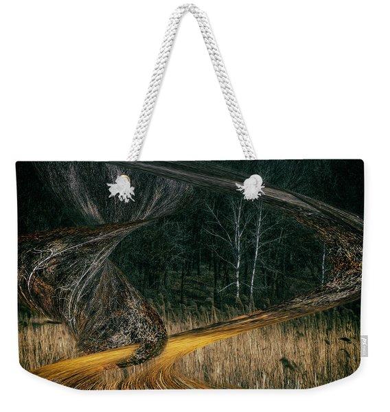 Field Warping Weekender Tote Bag