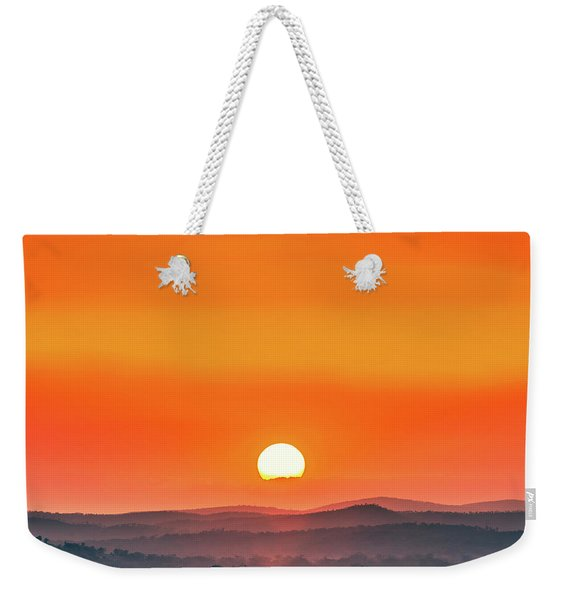 Fields Of Haze Weekender Tote Bag