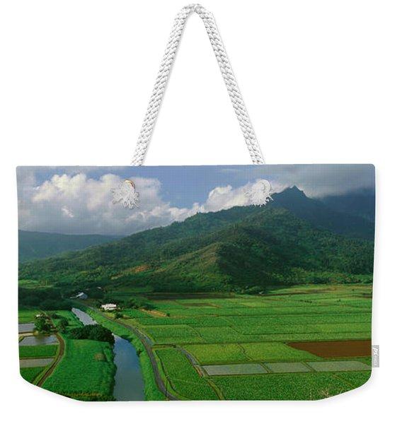 Fields Of Taro, Hanalei Valley Weekender Tote Bag