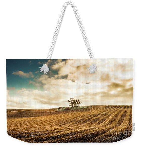 Fields Of Tasmanian Agriculture Weekender Tote Bag