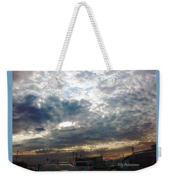 Fierce Skies Weekender Tote Bag