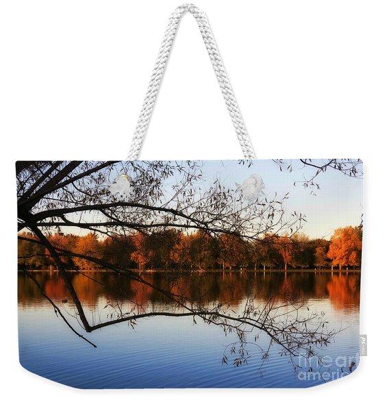 Fiery Colors On The Lake Weekender Tote Bag