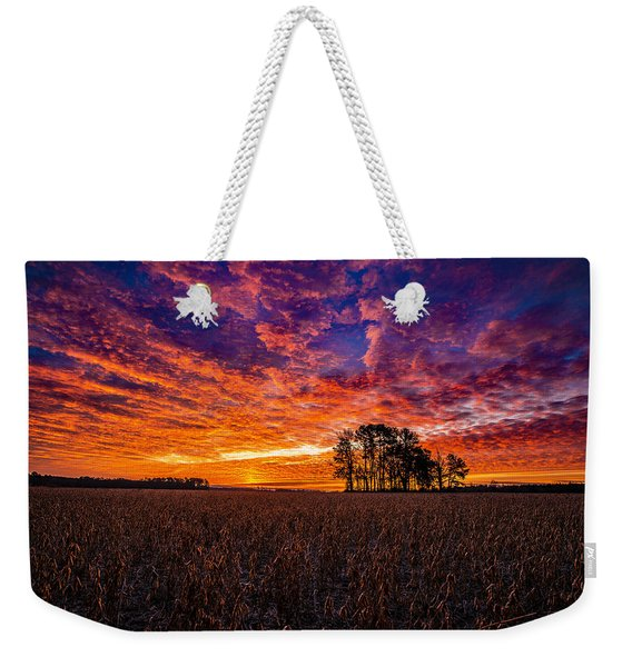 Fiery Dawn At Center Grove Weekender Tote Bag