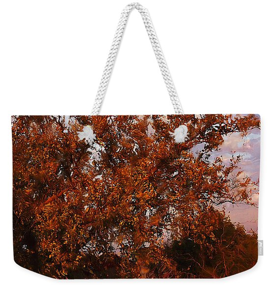 Fiery Elm Tree  Weekender Tote Bag
