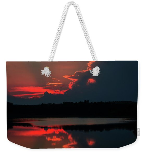 Fiery Evening Weekender Tote Bag