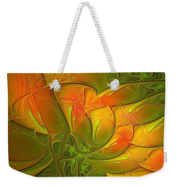 Fiery Glow Weekender Tote Bag