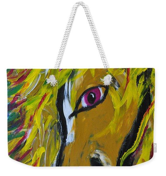 Fiery Steed Weekender Tote Bag