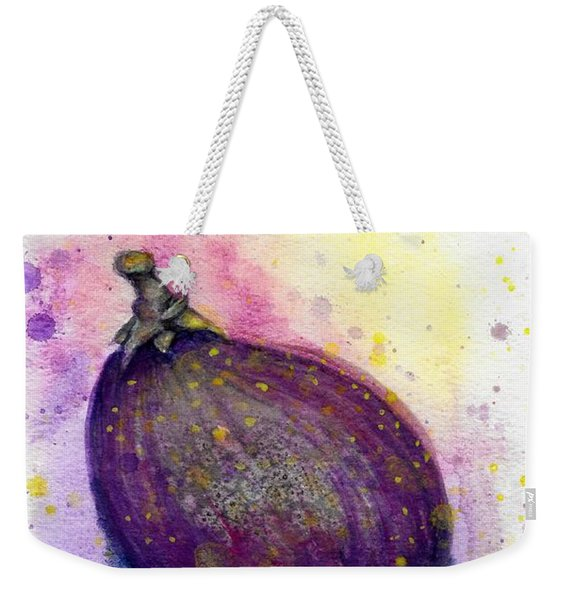 Weekender Tote Bag featuring the painting Fig by Ashley Kujan