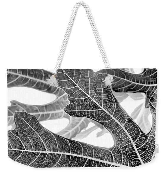 Fig Leaf Abstract Weekender Tote Bag