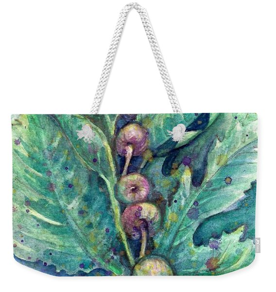 Weekender Tote Bag featuring the painting Figful Tree by Ashley Kujan