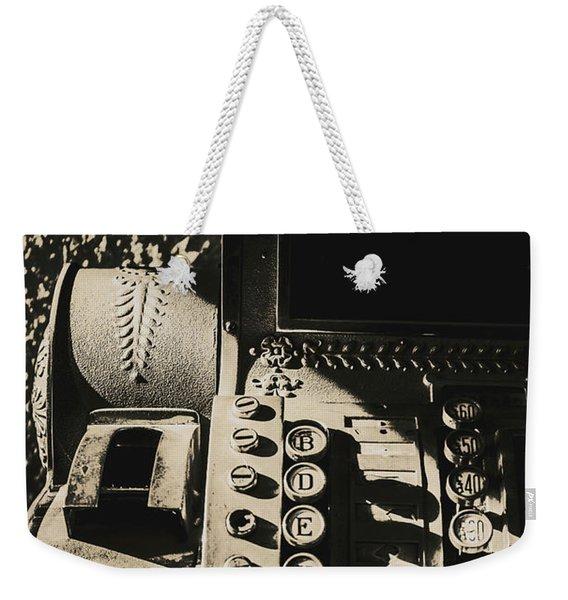 Film Noir Cashier Weekender Tote Bag