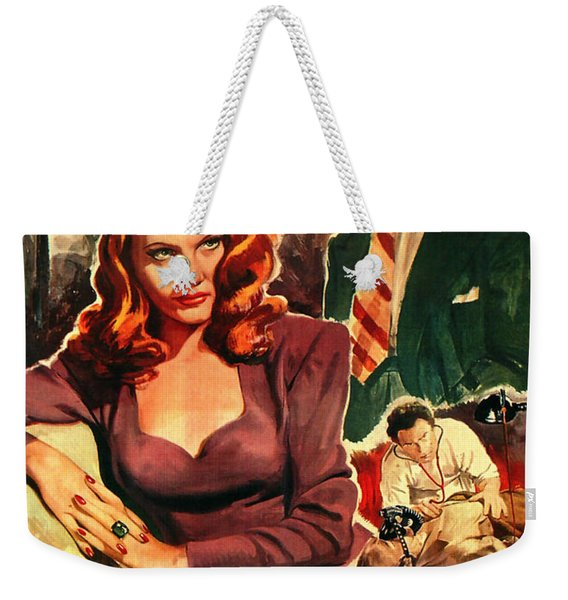 Film Noir Movie Poster Inganno Weekender Tote Bag