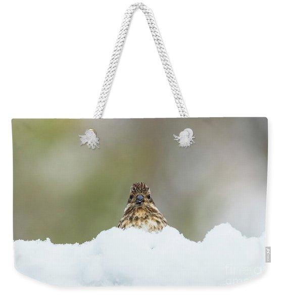 Female Purple Finch Weekender Tote Bag