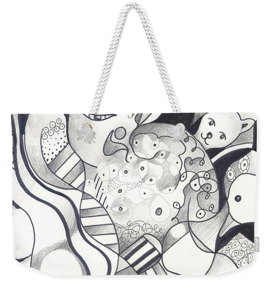 Finding The Goose That Laid The Egg Weekender Tote Bag