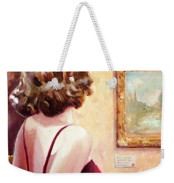 Fine Art Gallery Opening Night Weekender Tote Bag