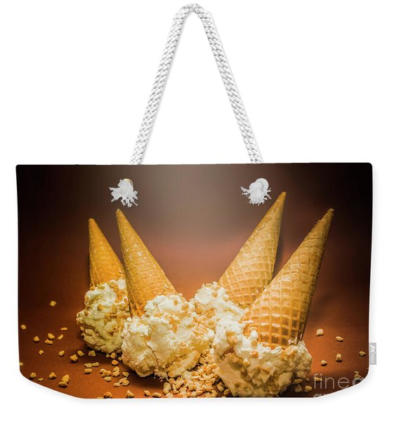 Fine Art Ice Cream Cone Spill Weekender Tote Bag