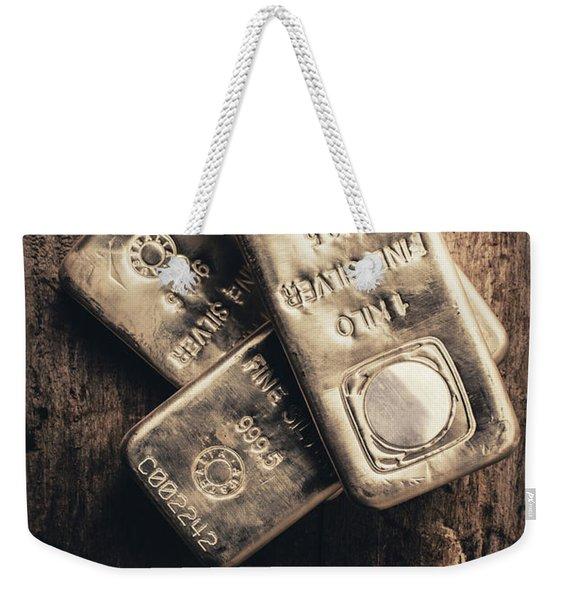 Fine Silver 999 Weekender Tote Bag