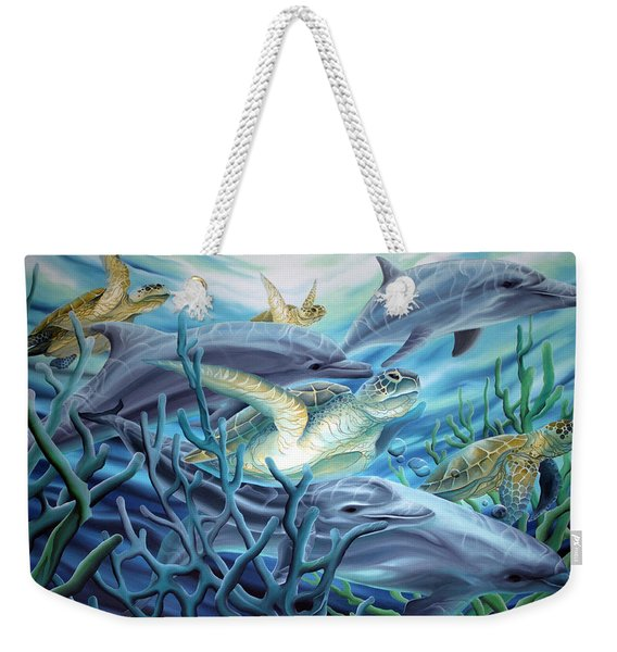 Fins And Flippers Weekender Tote Bag