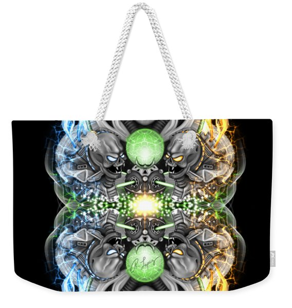 Fire And Ice Alien Time Machine Weekender Tote Bag