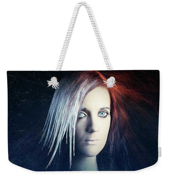Fire And Ice Portrait Weekender Tote Bag