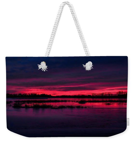 Fire And Ice Sunrise Weekender Tote Bag