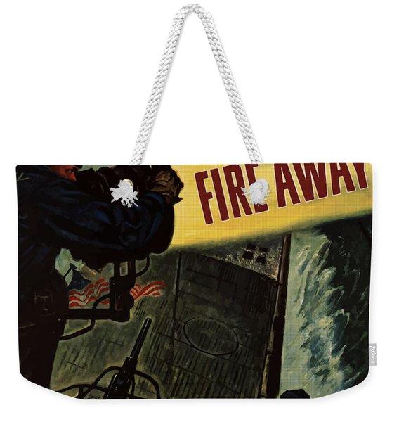 Fire Away Weekender Tote Bag