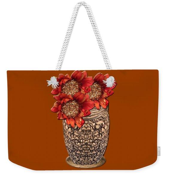 Fire Brick Flora Vase Weekender Tote Bag