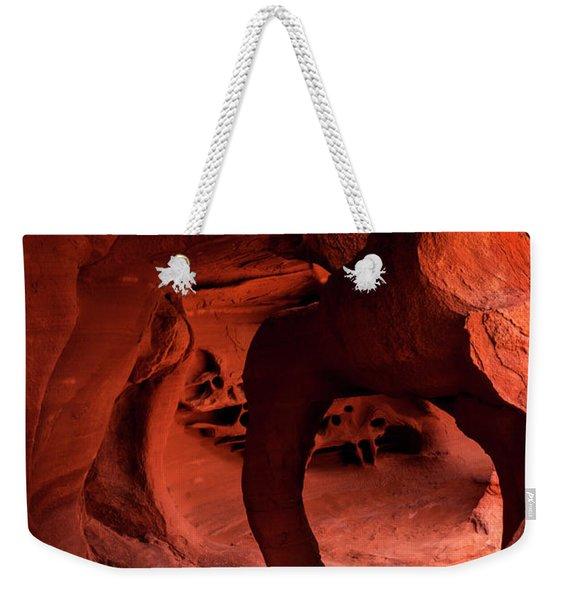 Fire Cave Inferno Weekender Tote Bag